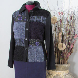 Fashion Bug Sz 8 Skirt with LG Blouse Purple/Black